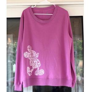 Disney Parks Paisley Mickey Mouse Sweatshirt
